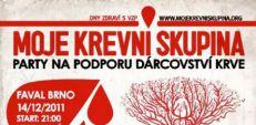 Párty na podporu dárcovství krve v Brn?