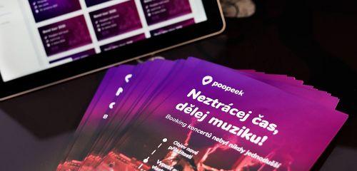 Představujeme Poopeek, novou bookingovou platformu pro interprety a organizátory